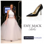 AFW Emily Black patent with tulle
