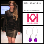 AFW Kenda purple earrings