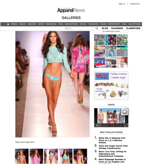 CA Apparel News 2014