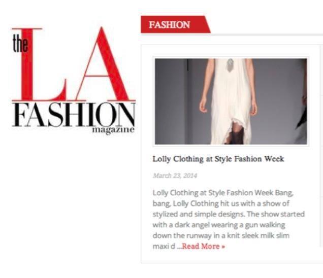LOLLY The LA Fashion