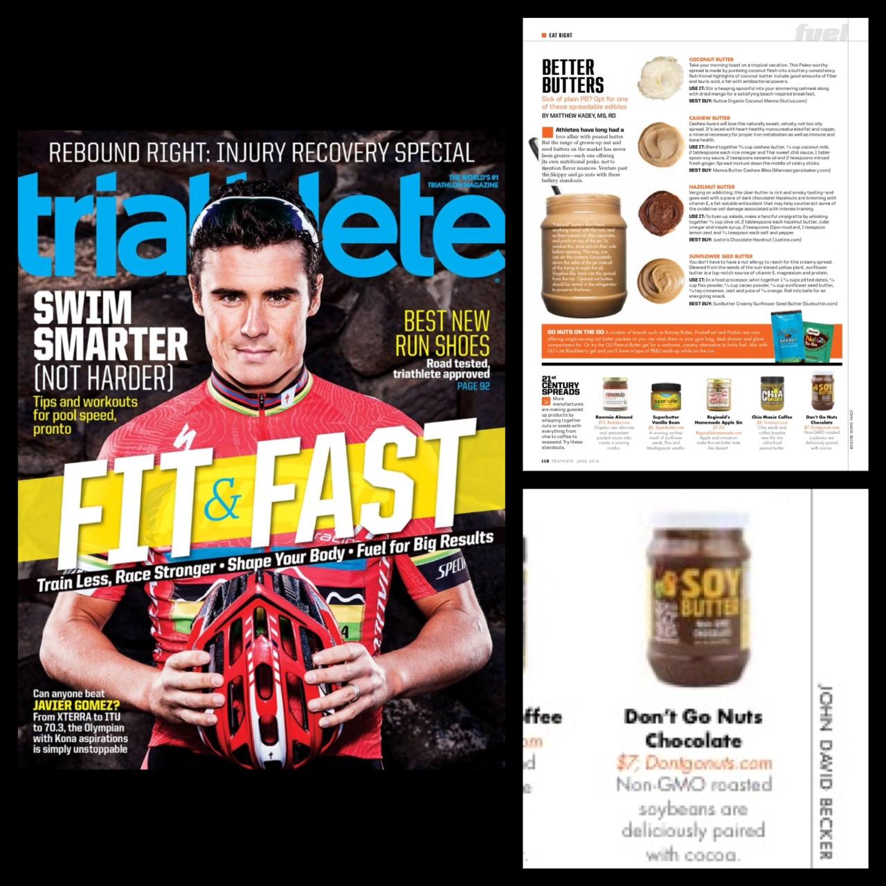 Triathlete Mag June 2014 - Don't Go Nuts