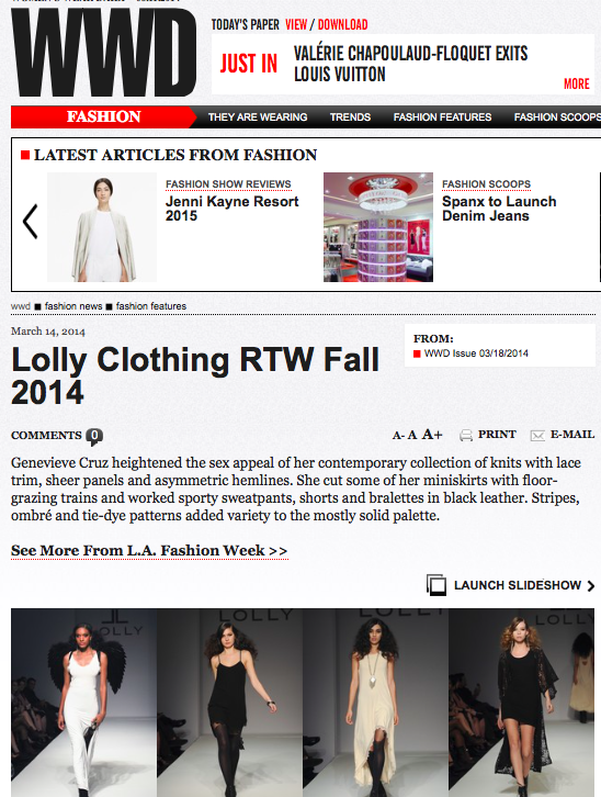 WWD LOLLY March 2014